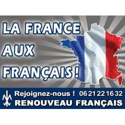100 autocollants « La France aux Français »
