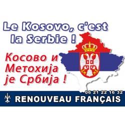 100 autocollants « Le Kosovo doit reste serbe »