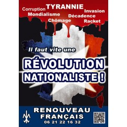 100 autocollants « Révolution nationaliste ! »